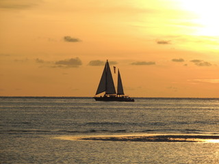 Sunset and sails