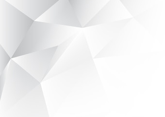 White polygon abstract background with copy space. Vector illustration