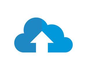 upstairs blue cloud image vector icon logo symbol