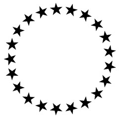 stars in circle icon on white background. stars in circle design for diagram, infographics, chart, presentation, app, UI. flat style. stars border frame symbol. European Union sign.