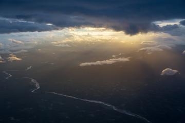 Nakhon si thammarat from above. Thailand