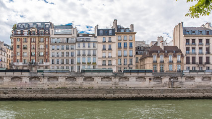 Foto op Canvas Stad aan het water Paris, beautiful houses on the banks, quai des Grands-Augustins