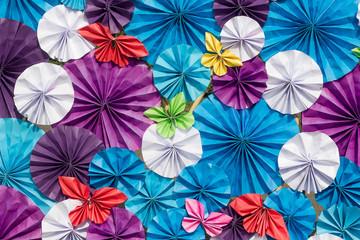 Colourful paper for background.