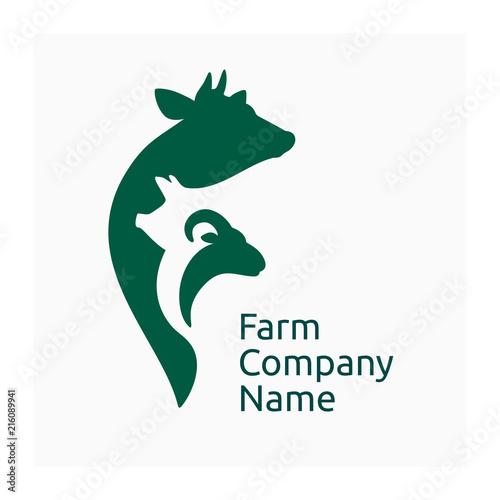 Farm Company Logo Icon Agricultural Animals Farm Animals Symbol