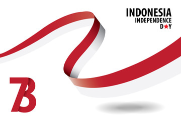 Indonesian Independence Day Background Template
