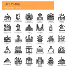 Landmark , Thin Line and Pixel Perfect Icons