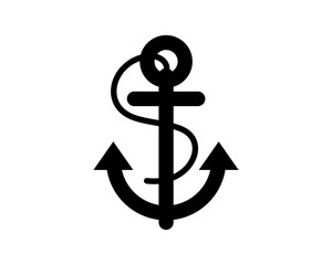 black anchor black silhouette image vector icon logo symbol