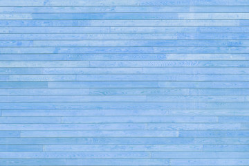 Blue texture of wooden slats. Many planks on the photo.