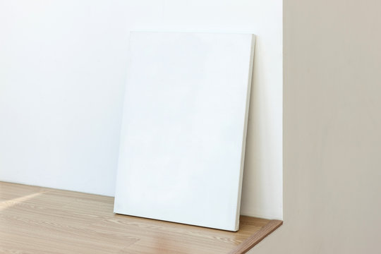 blank white canvas in the room