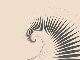 abstract spirals waves background in retro shades