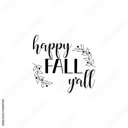 photo about Happy Fall Yall Printable named Pleased Drop Yall. Certain printable signal. Lettering
