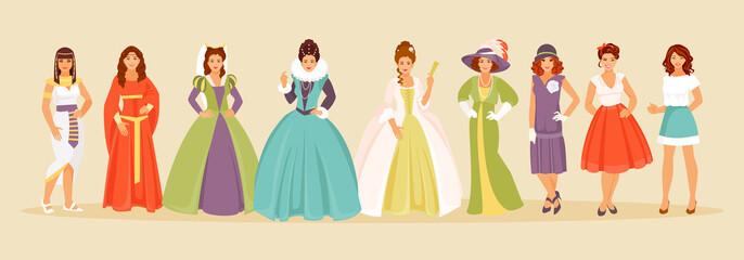 Fashion history vector