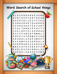 Crossword puzzles word find school things for kids games