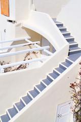 Oia town on Santorini island, Greece. Traditional architecture