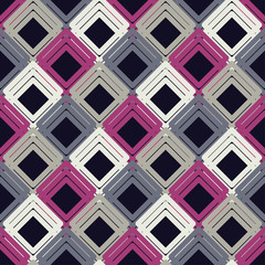 Seamless abstract geometric pattern. Mosaic texture. The texture of the strips. Textile rapport.