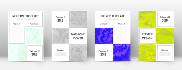 Abstract cover. Memorable design template. Suminagashi marble business poster. Memorable trendy abst