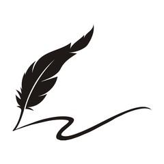 feather pen logo