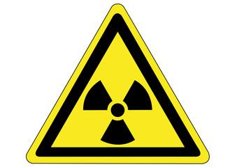 Schild Gefahr durch Radioaktivität