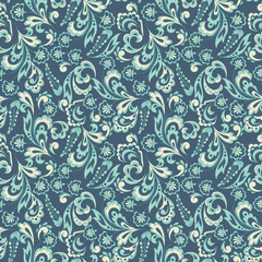 Floral background. Seamless vector pattern