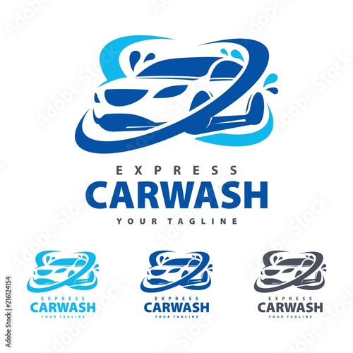 Express Template   Express Car Was Logo Template Automotive Spa Logo Car Wash Logo