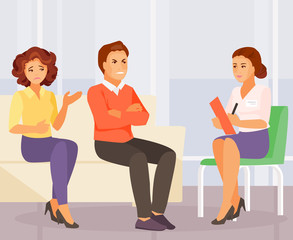 Family psychologist vector