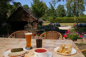 Snack, Mittagessen, traditionell,  im Spreewald