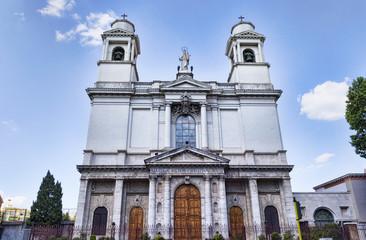Facade of Saint Mary Ausiliatrice s Basilica  in Rome