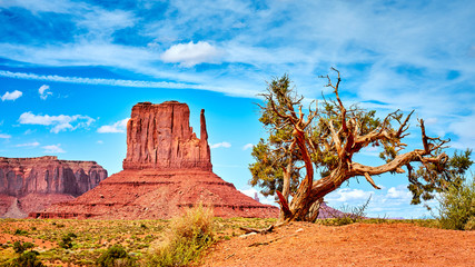 Western landscape in the Monument Valley, USA.