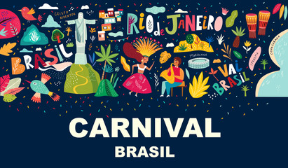 Illustration Brazil carnival