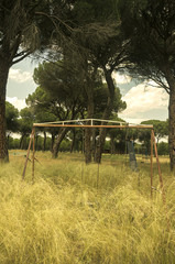 Fototapeta opuszczony plac zabaw