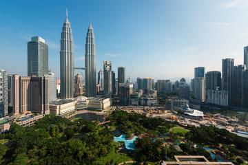 Fotobehang Kuala Lumpur Kuala lumpur skyline in the morning, Malaysia, Kuala lumpur is capital city of Malaysia