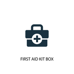 First aid kit box creative icon. Simple element illustration