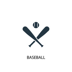 Baseball creative icon. Simple element illustration