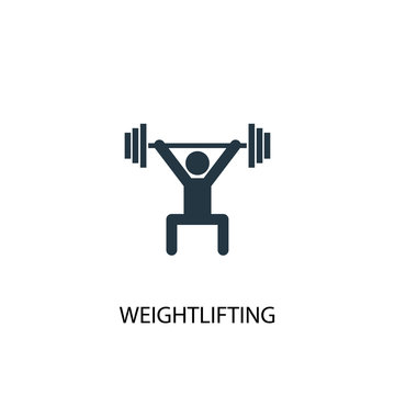Weightlifting creative icon. Simple element illustration