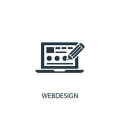Webdesign creative icon. Simple element illustration