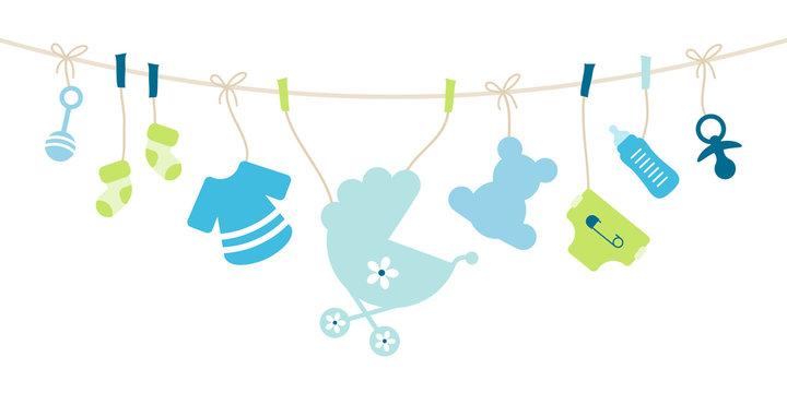 Card Baby Symbols Boy