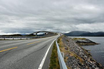 The Atlantic Ocean Road -  Atlanterhavsveien , 8.3-kilometer  long section of County Road 64 that runs through an archipelago in Eide and Averoy in More og Romsdal, Norway