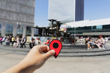 Alexanderplatz square in Berlin, Germany.