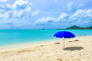 Valley Church Beach, paradise bay at tropical island Antigua in the Caribbean Sea