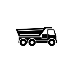 Tipper Truck. Flat Vector Icon illustration. Simple black symbol on white background. Tipper Truck sign design template for web and mobile UI element