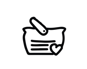 cart hand drawn icon , designed for web and app