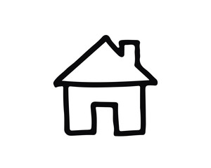house hand drawn icon , designed for web and app