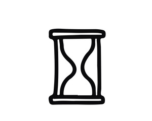 hourglass hand drawn icon , designed for web and app