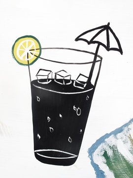 Tropical drink illustrations
