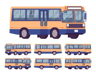 Bus orange-blue set