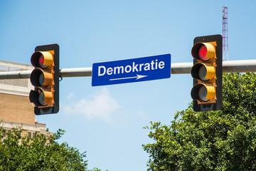 Schild 290 - Demokratie