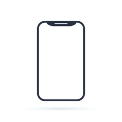 Mobile phone smartphone device gadget in line style on the white background. telephone icon. cellphone icon