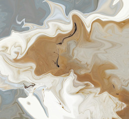 Abstraction in beige and gray