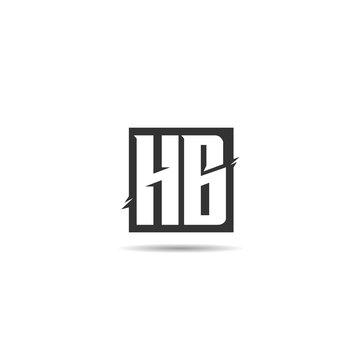 Initial Letter HB Logo Template Design