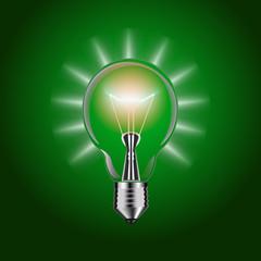 Lightbulb isolated. Illustration.